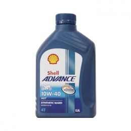 Nhớt Shell Advance 4T AX7 10W40 Synthetic Based 0.8L